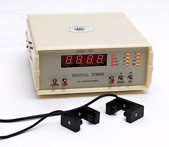 DIGITAL TIMER WITH PHOTOGATES