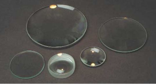 DOUBLE CONVEX LENS, GLASS, UNMOUNTED, 100MM DIA / 100MM