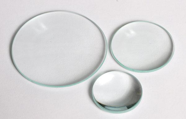 DOUBLE CONVEX LENS, GLASS, UNMOUNTED, 38MM DIA / 100MM