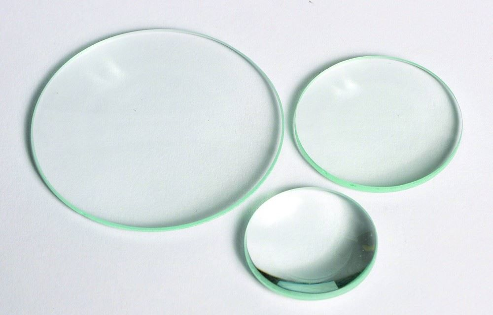 DOUBLE CONVEX LENS, GLASS, UNMOUNTED, 38MM DIA / 300MM