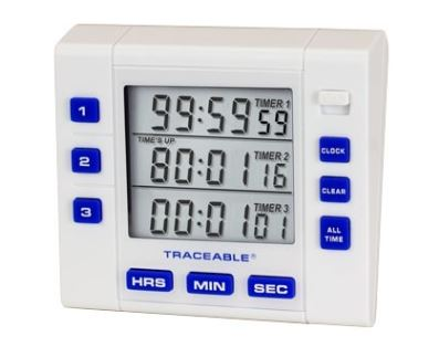 Traceable® 3-Channel Alarm Timer