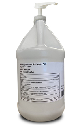 75% IPA Antiseptic Hand Sanitizer 4x1gallon Pump Top